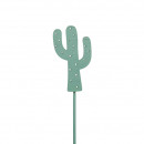 Wood cactus, to stick, H10cm, green